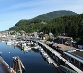 Looking up the harbor at Ketcchikan.