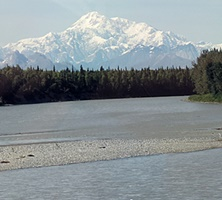 Our first view of Mt McKinley dwarfing everything!