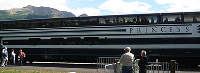 Our scenic rail car to McKinley Lodge.