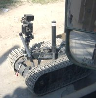 This is a typical ordinance disposal robot. (click for different view)