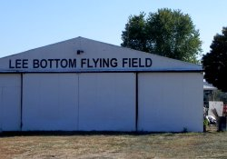 The hanger here has a new coat of paint & sign!