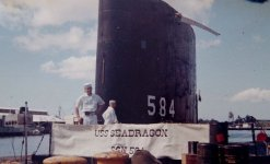 This shows an 18 year old sailor on watch on the Seadragon in Pearl Harbor.