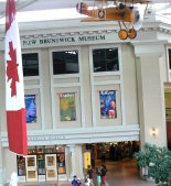 The entry to the New Brunswick provincial museum is from the market building.