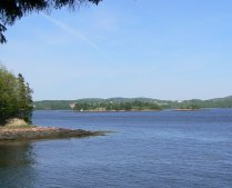 St. Croix Island as seen from the US side. (click for a view from NB)
