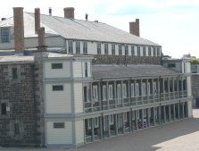 The old barracks building has museums and restored rooms in it.