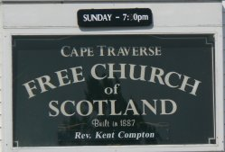 This is a typical sign found on the side of most of the churches.