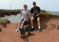 All three of us enjoyed our visit to the red beach of PEI.