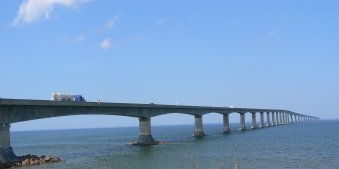 This is the PEI bridge, which is 13 km from New Brunswick.