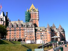 The oldest active hotel in Canada, is located directly on the river front.