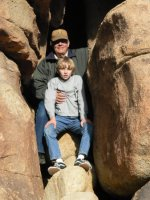 Rock climbing with my grandson, Keil.