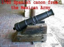 1760 Spanish canon from the Mexican Army