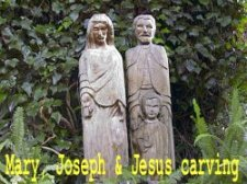Mary & Joseph Carving
