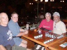 We met Rich & Dianne Emond at Epcot for an evening and dinner. Restaurants there are excellent.