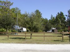 This is a view of the five site campground located behind the check station.