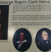 Story board at the home of George Rogers Clark.