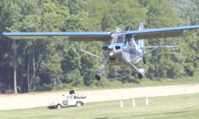 Pilots always make a low pass over the field to chase the deer from the runway before landing.