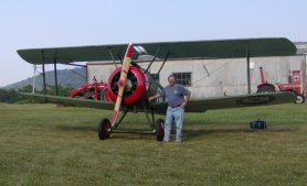 The owner with the last flying Sopwith Camel.