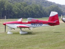 The kit airplane known as an RV7a.