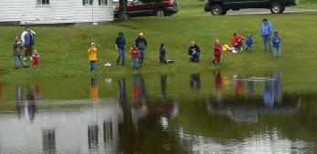 The kids fishing derby is an annual event at Moosehorn.