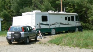 This is the volunteer's RV site at Moosehorn NWR.
