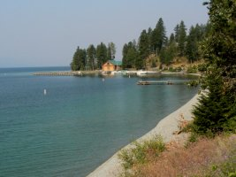 We passed along the side of Flathead Lake in route to the park.