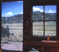 There is a cabin in whch you can see a view from the window of the area at the time early settlers passed this way.