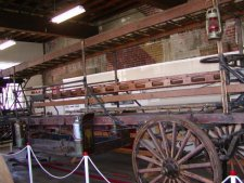 Horse drawn ladder wagon built by American La France.