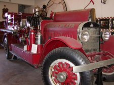 An old firetruck built by Stutz Motors, makers of the Stutz Bearcat.