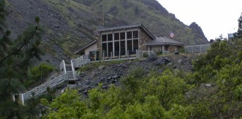 This is the visitor center that is located below the dam and at the far north end of the lake.