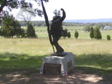 Monument to a Mississippi infantry regiment.