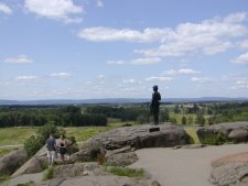 This is the view from Little Round Top, the position held by Union troops in the last action of the engagement.