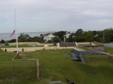 The grounds of Ft. Moultrie are large and mostly complete.