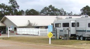 The CARE center has RV sites with full hook-ups for the residents who use the services.