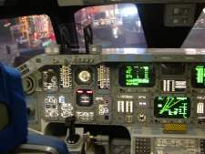 The shuttle flight deck.