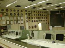 This is the actual Mission Control center that was used for all space flights from the very first, through the early shuttle missions.
