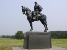 Monument to Gen. Stonewall Jackson, who made his name here in the first battle.