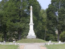 Bull Run monument to the Confederate unknown dead.