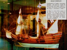 This is a model of the flagship, Susan Constant, which carried such people as John Smith.