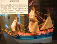 A model of the ship Godspeed.