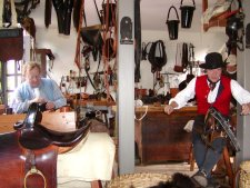 The harness shop makes horse harness for use all over the world.