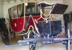 This is a carriage that was used by the former president.