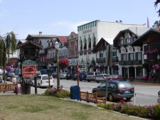 Shops in the restored buildings of downtown Leavenworth.