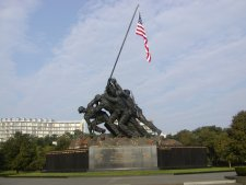 The Iwo Jima memorial at Arlington Cemetery.