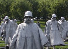 The very striking monument to the Korean War. Click to see a different part of this unusual memorial.