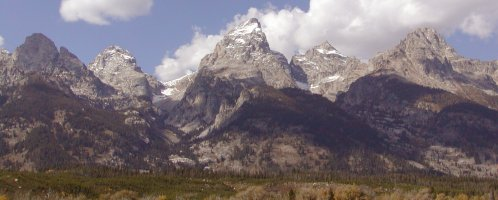 This is the best known view of the Teton Range of the rocky mountains.