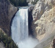 This is the lower falls of the Grand Canyon of the Yellowstone. (clich for a long view)