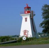 Some lighthouses are right in the community that they serve.