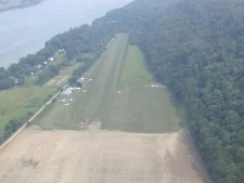 This is a picture of the field that I took from one of the visiting airplanes.
