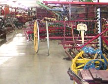 This is the largest collection of antique farm machinery that this farm boy has ever seen.