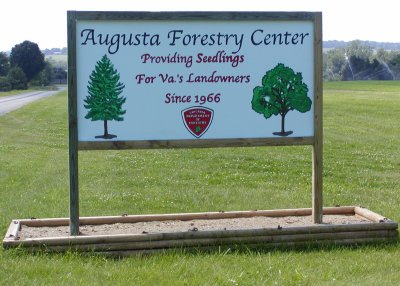 This sign welcomes visitors to the Augusta Forestry Center.